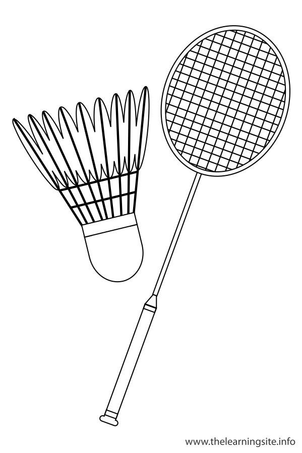 Coloriage et dessins gratuits Équipement Badminton à imprimer