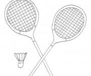 Coloriage et dessins gratuit Équipement Badminton facile à imprimer