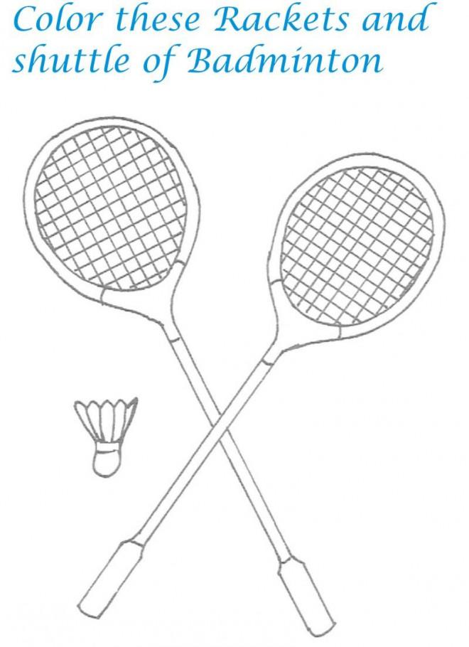 Coloriage et dessins gratuits Équipement Badminton facile à imprimer