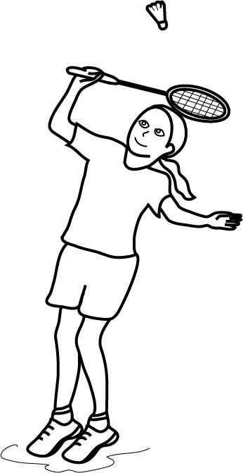 Coloriage et dessins gratuits Fille qui joue au Badminton à imprimer