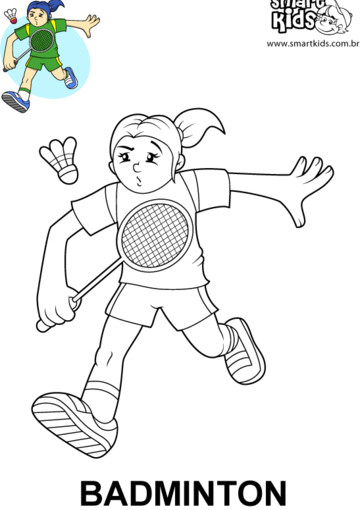 Coloriage et dessins gratuits Jeune fille en jouant Badminton à imprimer