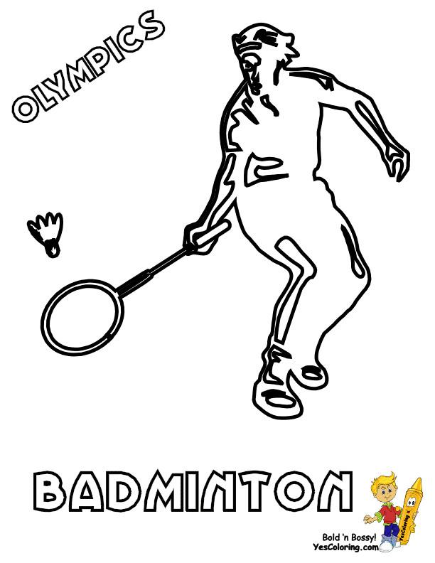 Coloriage et dessins gratuits Joueur de Badminton stylisé à imprimer