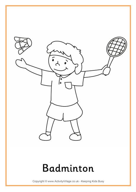 Coloriage et dessins gratuits Joueur mignon de Badminton à imprimer