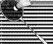Coloriage Raquette de Badminton