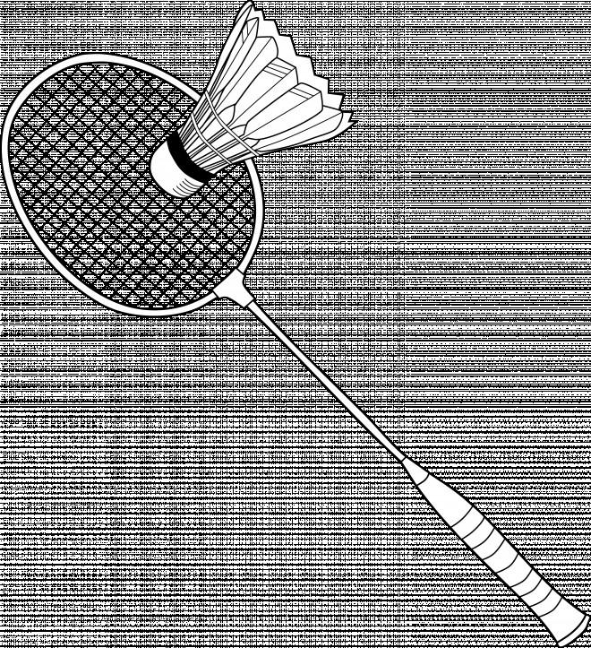 Coloriage et dessins gratuits Raquette de Badminton à imprimer