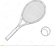 Coloriage raquette de tennis dessin gratuit imprimer - Dessin raquette ...
