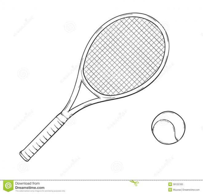 Coloriage et dessins gratuits Raquette de Tennis à imprimer