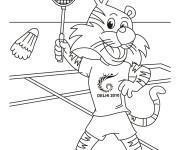 Coloriage et dessins gratuit Shera joueur de Badminton à imprimer