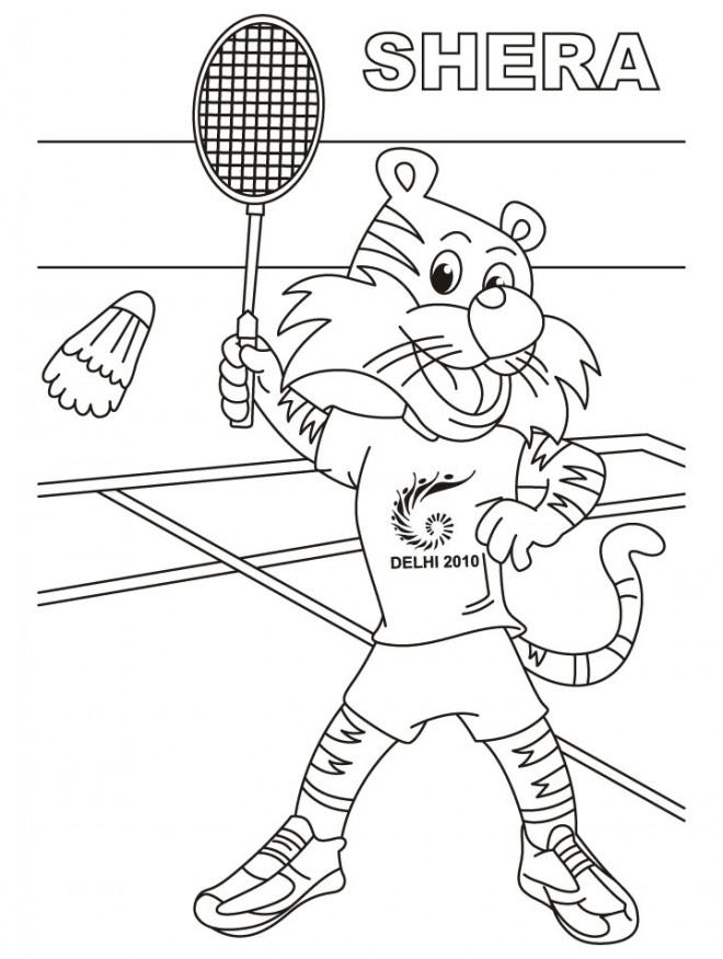 Coloriage et dessins gratuits Shera joueur de Badminton à imprimer