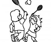 Coloriage et dessins gratuit Sport Badminton maternelle à imprimer