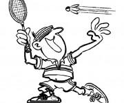Coloriage et dessins gratuit Sport de Badminton à imprimer