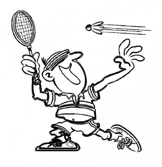 Coloriage et dessins gratuits Sport de Badminton à imprimer