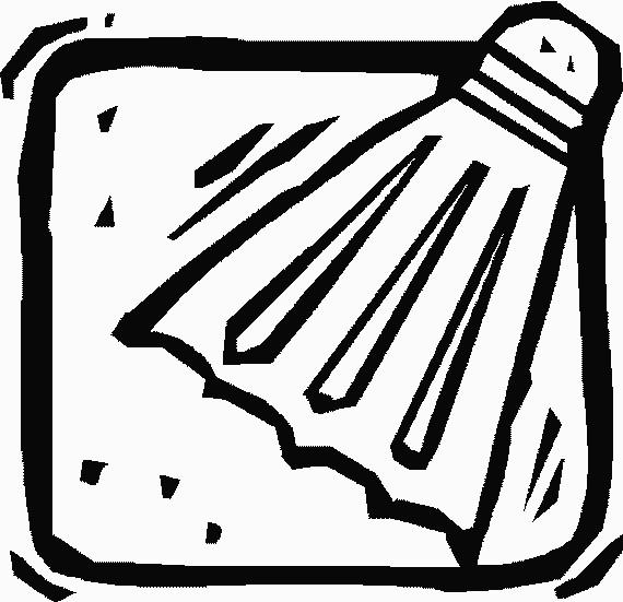Coloriage et dessins gratuits Volant Badminton vecteur à imprimer