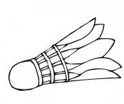 Coloriage Volant de Badminton