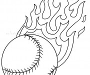 Coloriage Baseball