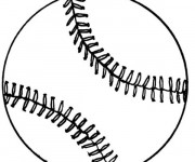 Coloriage Balle Baseball stylisé
