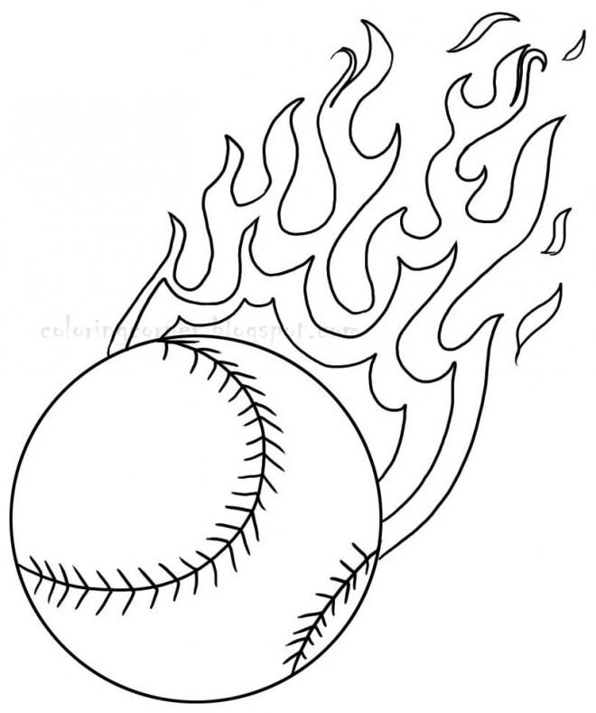 Coloriage et dessins gratuits Balle de Baseball à imprimer