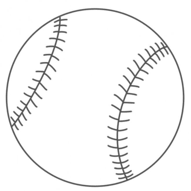 Coloriage et dessins gratuits Balle de Baseball facile à imprimer