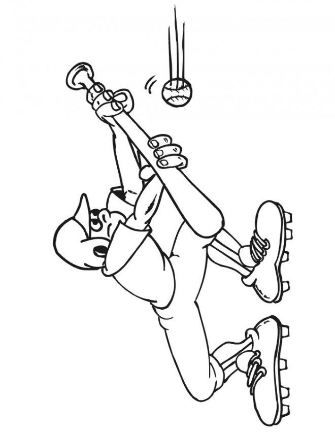 Coloriage et dessins gratuits Balle de  Baseball glissante à imprimer