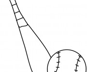Coloriage dessin  Baseball 6