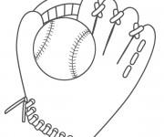 Coloriage Baseball à décorer