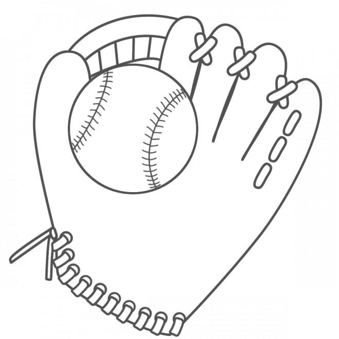 Coloriage et dessins gratuits Baseball à décorer à imprimer