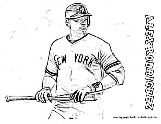 Coloriage et dessins gratuits Baseball maternelle à imprimer