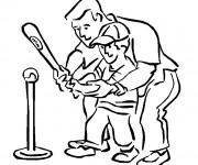 Coloriage et dessins gratuit Baseball pour enfant à imprimer