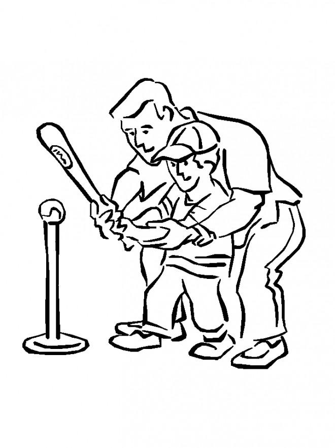 Coloriage et dessins gratuits Baseball pour enfant à imprimer