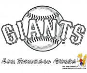 Coloriage Baseball San Francisco Giants