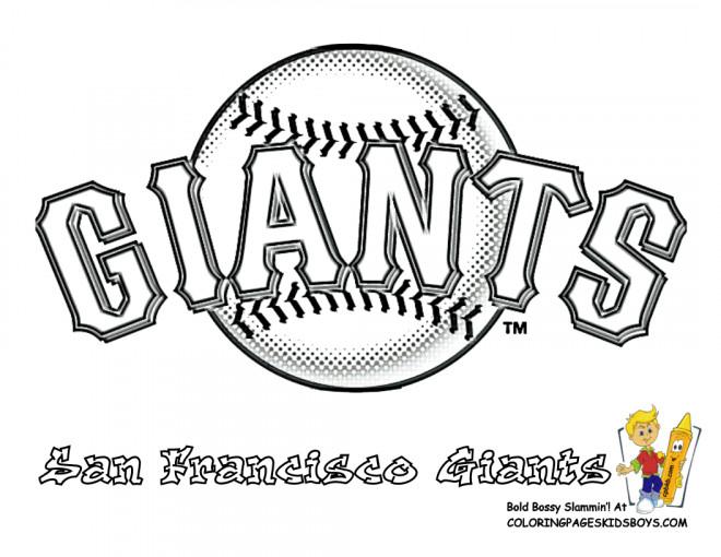Coloriage et dessins gratuits Baseball San Francisco Giants à imprimer
