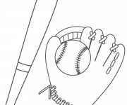 Coloriage Éléments de Baseball