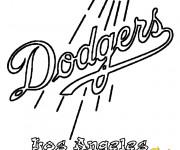 Coloriage Équipe de Baseball Dodgers