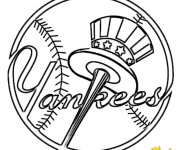 Coloriage Équipe de Baseball New York Yankees