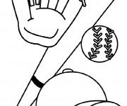 Coloriage Équipements de Baseball