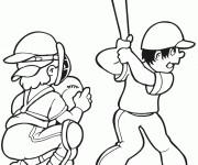 Coloriage et dessins gratuit Frappeur Baseball à imprimer