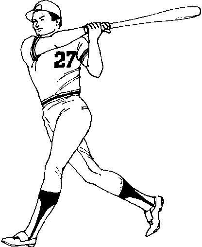 Coloriage et dessins gratuits Frappeur  Baseball adulte à imprimer