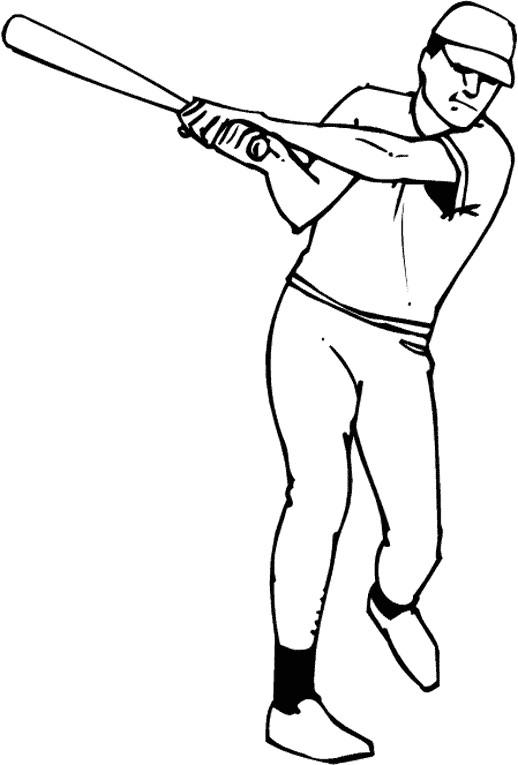 Coloriage et dessins gratuits Frappeur de Baseball simple à imprimer