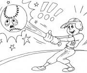 Coloriage et dessins gratuit Frappeur et Balle malheureuse à imprimer