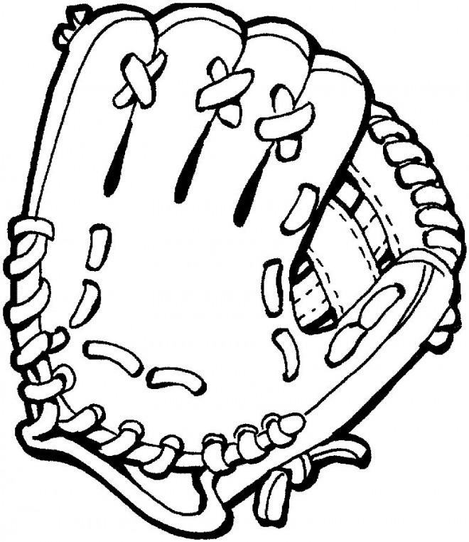 Coloriage et dessins gratuits Gant de Baseball à imprimer
