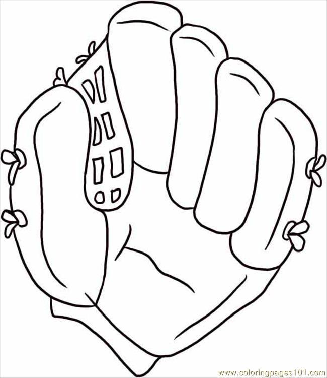 Coloriage et dessins gratuits Gant de Baseball facile à imprimer