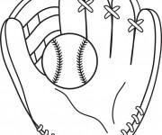 Coloriage Gant de Baseball pour receveur