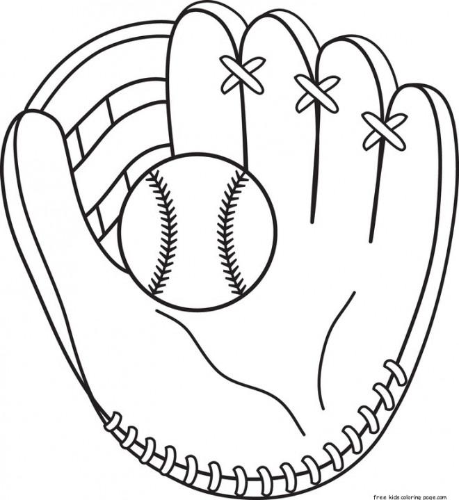 Coloriage et dessins gratuits Gant de Baseball pour receveur à imprimer