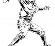 Coloriage Joueur de Baseball à découper