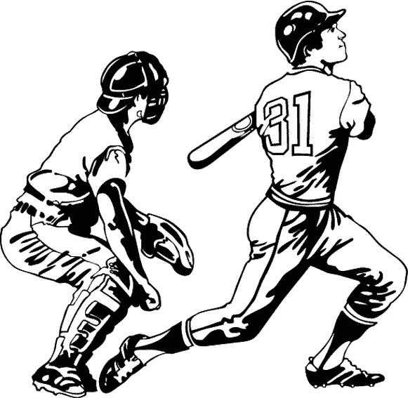 Coloriage et dessins gratuits Joueurs de Baseball à imprimer