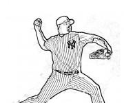 Coloriage Lanceur Baseball Roger Clemens