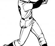 Coloriage et dessins gratuit Lanceur de Baseball à colorier à imprimer