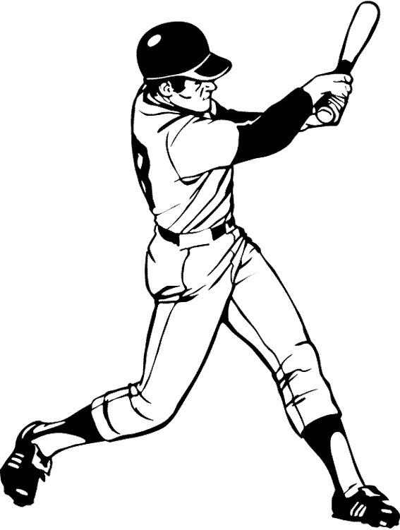 Coloriage et dessins gratuits Lanceur de Baseball à colorier à imprimer