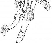 Coloriage Lanceur de Baseball facile