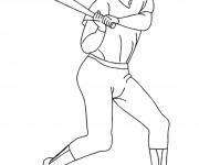 Coloriage et dessins gratuit Sport de Baseball à imprimer